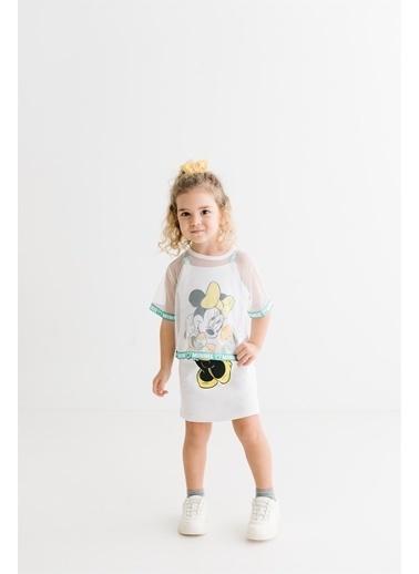 Minnie Mouse Lisanslı Çocuk Takım 17378 Beyaz